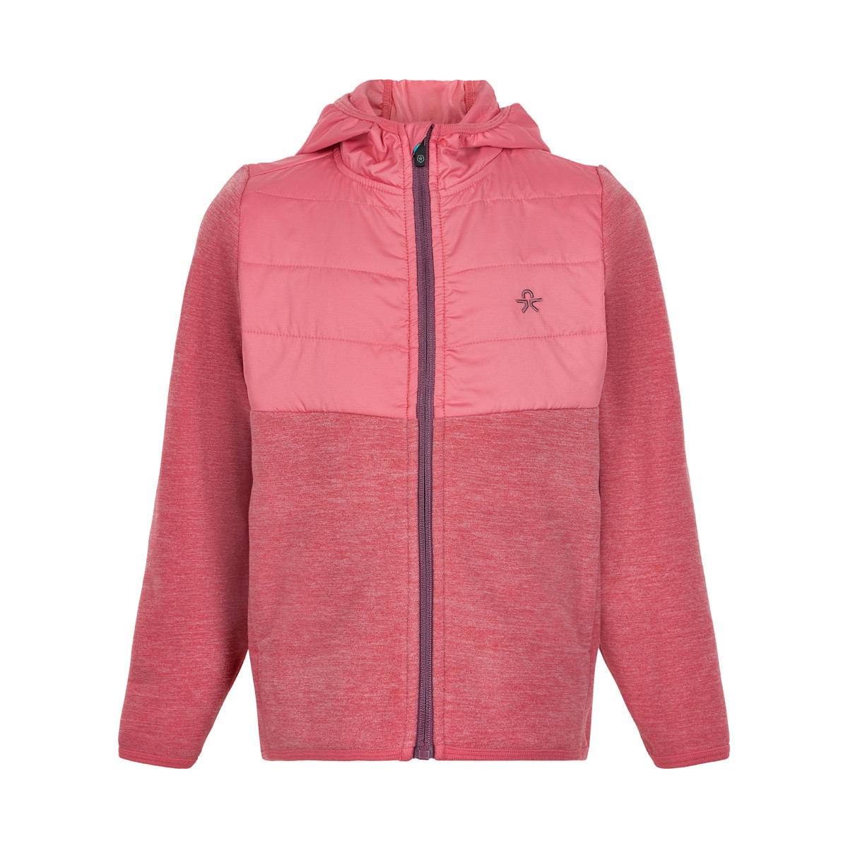 Color Kids Shermann Fleece - Kinder Fleecejacke desert rose