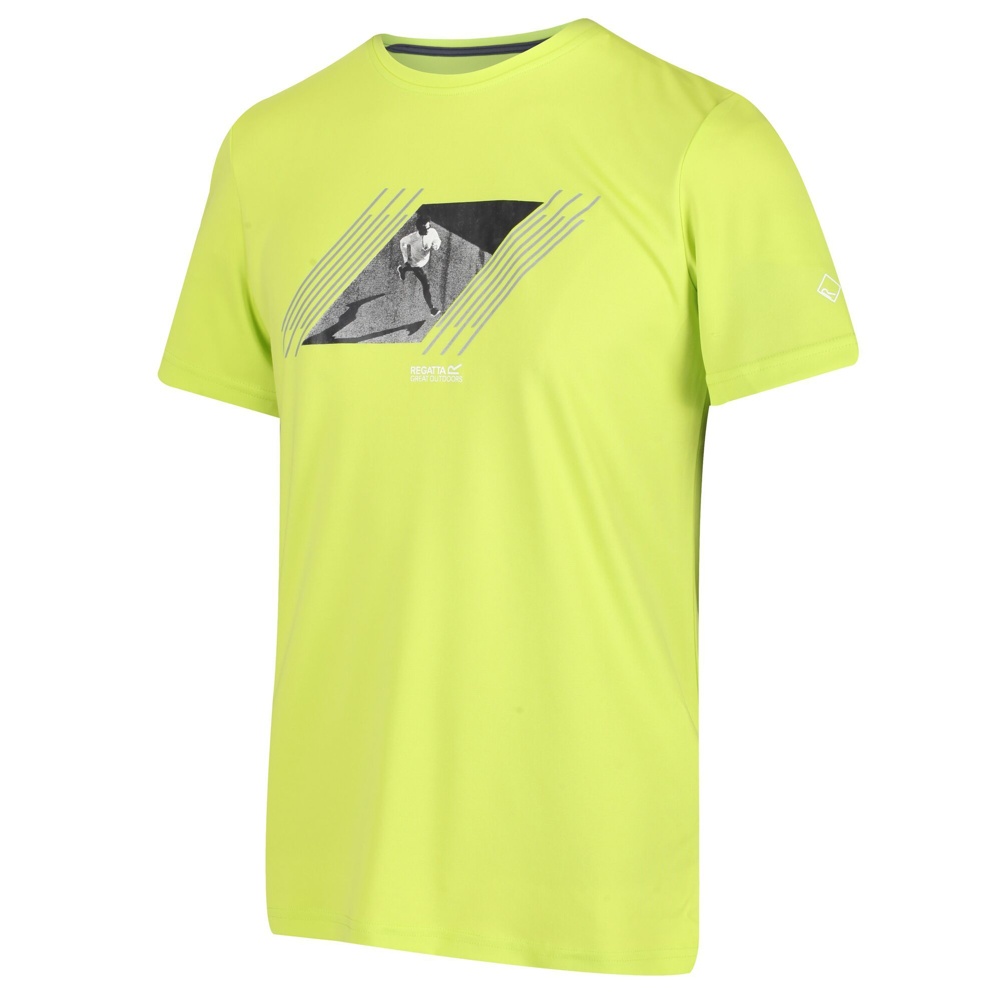 Regatta Fingal V - Herren Funktions-T-shirt electric lime