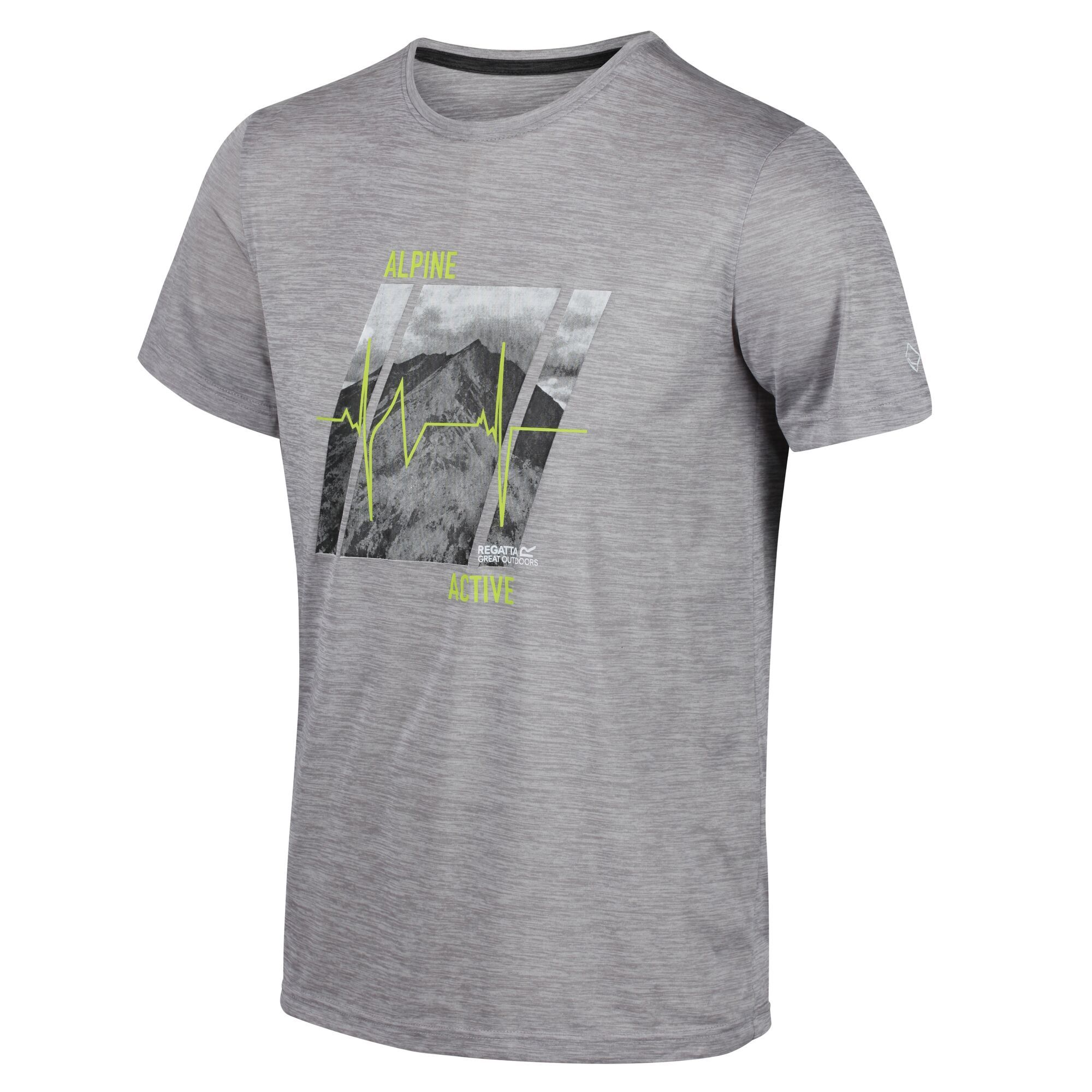 Regatta Fingal V - Herren Funktions-T-Shirt rockgrey