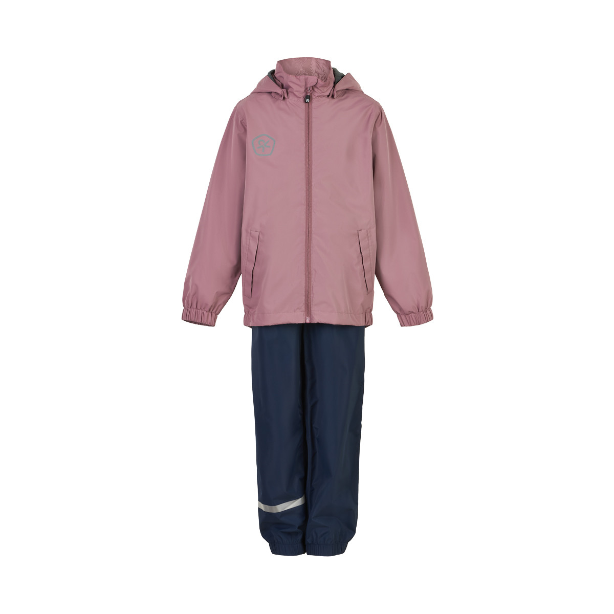 Color Kids Rain Set - Kinder Regenkombi dusky orchid